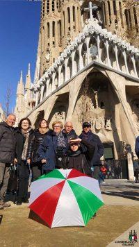 Free tour di Barcellona e della Sagrada Famiglia. L'ombrello Italiano