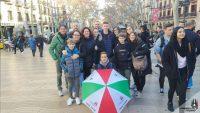 Visita guidata gratuita del quartiere Gotico di Barcellona. L'ombrello italiano